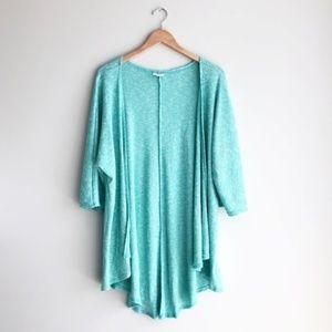 LulaRoe Mint Ribbed Lindsay Kimono Cardigan Size S